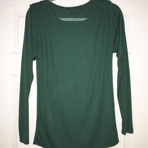 Forever21 green long sleeve top size medium
